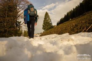 Und später zu Fuß durch den Schnee