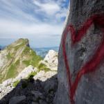 Herz am Fels