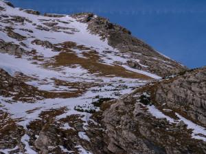 """Unser """"Winterabstieg"""" vom Hindelanger Klettersteig."""