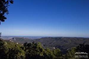 Ausblick vom Klettergebiet Les Gralles bei Montblanc