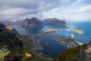 Berühmtes Lofoten-Bild: Blick vom Reinebringen