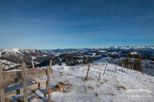 Aussicht vom Sipplinger Kopf (Skitour Allgäu)