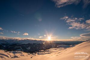 Sonnenuntergang in Fideris/Prättigau