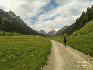 Mit dem Bike zum Gasthof Bollenwees.