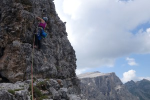 Auf den letzten Metern der Nikibi am Lastoni di Formin