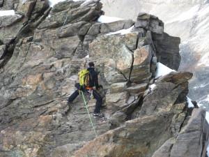 Die Kamera auf Hochtour und beim Klettern mit dabei.