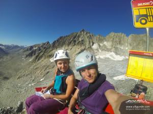 Lena und ich am Gipfel.