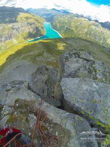 Mit der GoPro geht einfach alles drauf - Füße, Wand, Landschaft, Himmel.