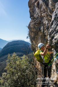 Spaßiges Klettern in der Cuoro d'oro im Sarcatal.