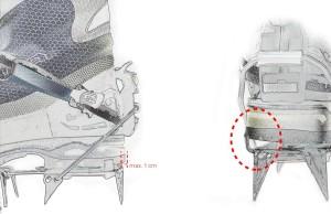 Steigeisen richtig anpassen hinten - Kipphebel