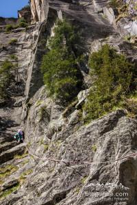Erste Seillänge der Rabennest im Zillertal