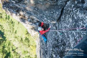 Letzte (und recht schöne!) Seillänge der Alpenland