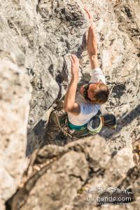 Viel klettern hilft am besten, um besser zu werden.