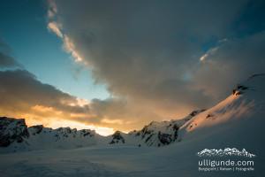 Sonnenuntergang von der Stüdlhütte aus