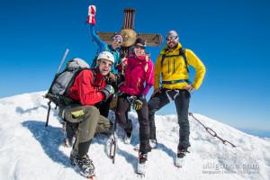 Oohoooobeeeen!!! Gipfel Großglockner bei perfekten Bedingungen.