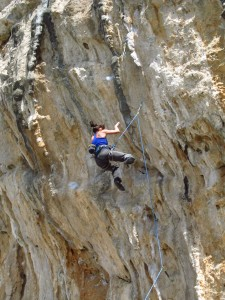 Sturztraining beim Klettern