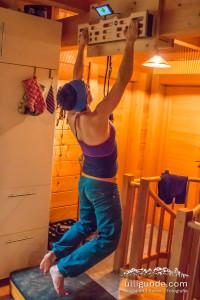 """Beim Trainieren daheim fürs """"besser klettern"""""""