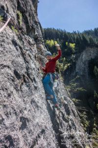 Nach Sturzangst nach einem Kletterunfall hilft es auch, einfach einmal eine Zeit lang leichtere Touren zu unternehmen.