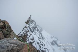 Die letzten ausgesetzten Meter an der Dreiländerspitze