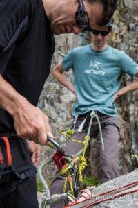 Improvisierte Rettung beim Klettern