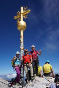 Gipfelfoto an der Zugspitze. ©bergführer.com