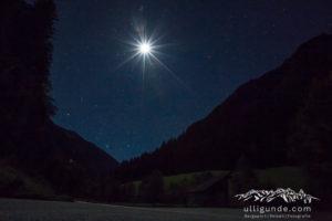 Sternenhimmel über dem Zillertal