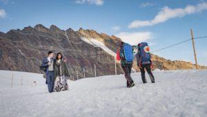 Fotoshooting Hochzeit Gletscher