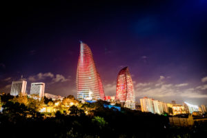 Baku Eternal Flame Towers Architecture