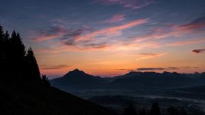 Sonnenaufgang Allgäu Grünten Hörnbergruppe