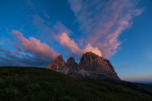 Langkofel Sonnenaufgang Dolomiten