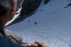 Schneefeld Bretterspitze Querung