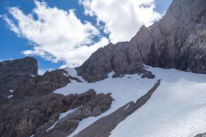 Normalweg Bretterspitze - bzw. Abstieg vom Bretterspitze Westgrat