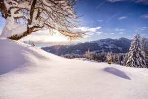 Dürrehorn-Alpe im Sonnenaufgang.