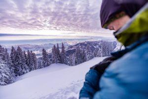 Brotzeit auf Skitour. Wichtig!