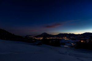 Allgäu Sonnenaufgang Nacht Sterne Lichter