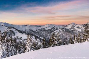 Sonnenaufgang Winter Schneelandschaft