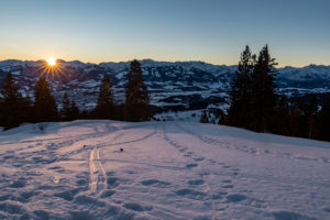 Sonnenaufgang Allgäu Mittag Winter