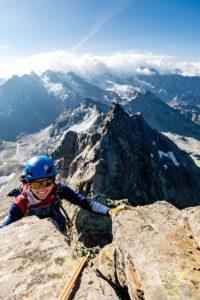 Klettern Silvretta Frau Alpin