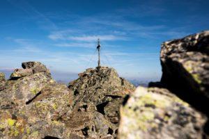Gipfel Gipfelkreuz Großlitzner Silvretta