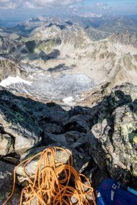Abseilen Silvretta Seehorn Gletscher