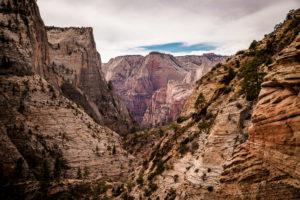 Gewaltige Felswände im Zion National Park