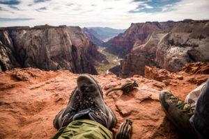 (Wanderung Zion National Park Observation Point - Streifenhörnchen