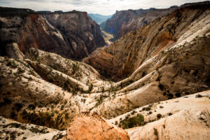 Rückweg vom Observation Point im Zion National Park