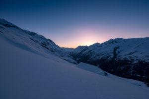 Sonnenaufgang Ötztal Winter