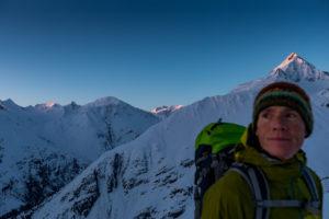 Sonnenaufgang Skitour Wildspitze ab Vent