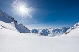 Sonnenstrahlen Skitour Ötztal