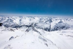 Ausblick Wildspitze Winter nach Südtirol