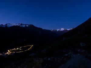 Obergurgl Nacht Gletscher Sternenhimmel