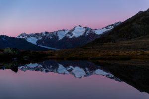 Bergsee Spiegelung Gletscher Berge Obergurgl See