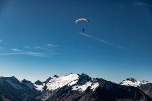 Gleitschirm Obergurgl Ötztal Gletscher Startplatz